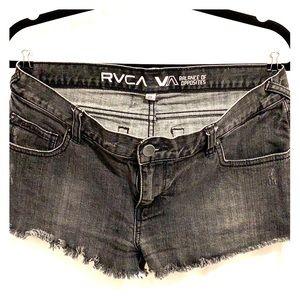 Rvca low rise cut-off shorts